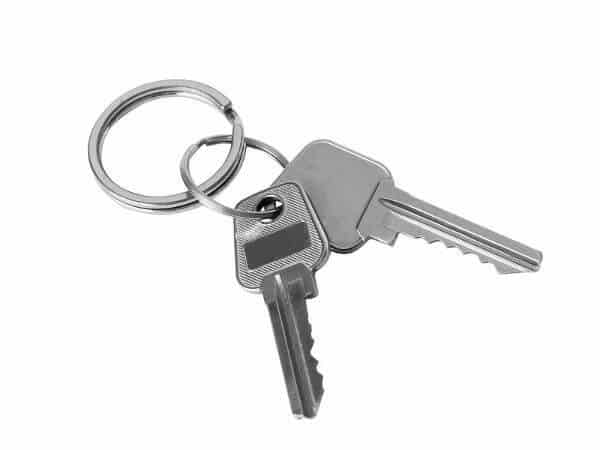 keys on white background-opt