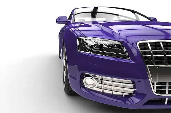 Purple Car Front