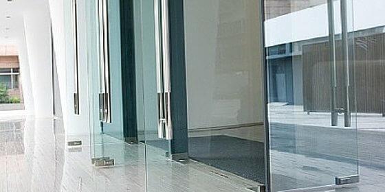 Commercial shop door in shopping centre