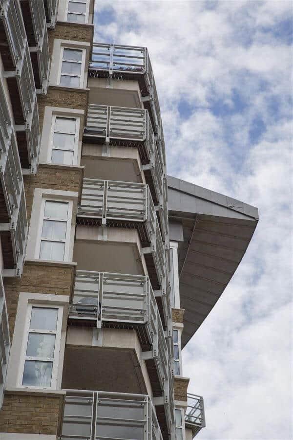 New apartment block with locks