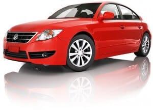 Red Sedan with keylock