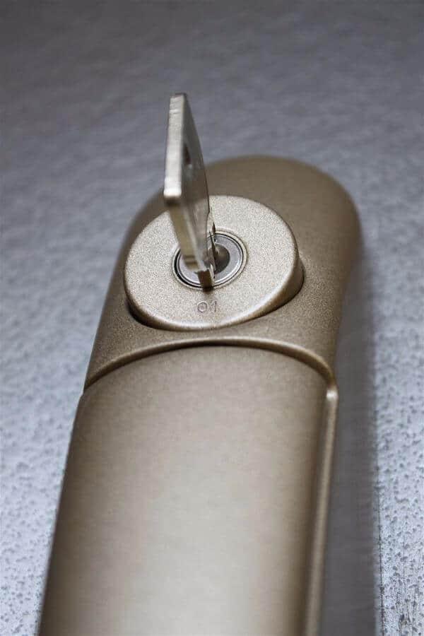 Window lock with key