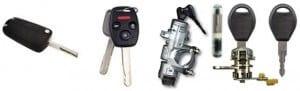 Car locks, transponders and keys