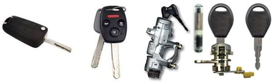 Car locks, transponders and keys