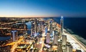 Gold coast, Surfers Paradise at night
