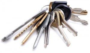 House keys on key ring